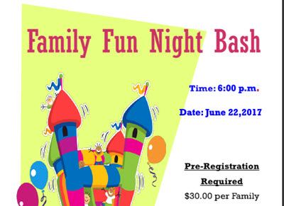 Announcement: Join Us for Family Fun Night Bash on June 22nd